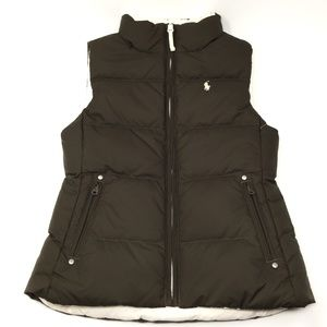 Kids Ralph Lauren Reversible Puffer Vest sz 7&8/10